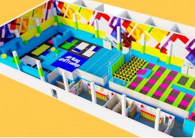 Как спроектировать батутный центр?