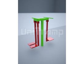 Уличный тренажер «Шпагат поперечный и маятник»